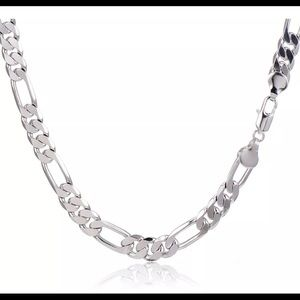 Mens Stainless Steel Chain Hip Hop Figaro Curb Hea